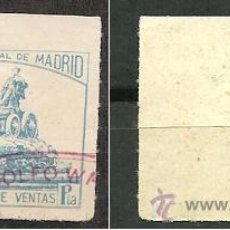 Timbres: 0058 FISCALES MADRID 1P. PAPEL BLANCO Y Nº EN ROJO . Lote 27523191