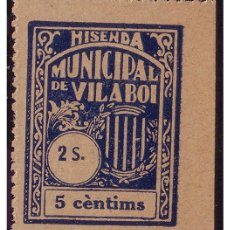 Sellos: BARCELONA VILABOI, GUERRA CIVIL, FESOFI Nº 10 (*) . Lote 22616754