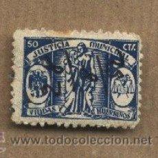 Sellos: JUSTICIA MUNICIPAL.VIUDAS Y HUÉRFANOS.50 CTS. VIÑETA.. Lote 22990868