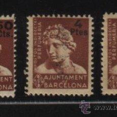 Sellos: S-2668- AJUNTAMENT DE BARCELONA. IMPOSTOS INDIRECTES. TRES VALORES DE PERFUMERIA . Lote 140551824