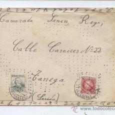 Sellos: TEMA GOYA. CARTA CIRCULADA DEL FRENTE A TARREGA (LERIDA). 1938. VER DESCRIPCION.. Lote 23455062