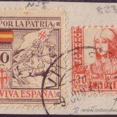 Sellos: ESPAÑA. LOCAL. (CAT. 5). 10 CTS. POR LA PATRIA (LA CORUÑA) Y SELLO DE 30 CTS. VARIEDAD DENTADO.. Lote 23440920