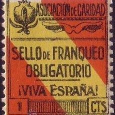 Sellos: ESPAÑA. LOCAL. (CAT. 34). ** 1 CTS. ASOCIACIÓN DE CARIDAD (GRANADA). MAGNÍFICO.. Lote 23441824