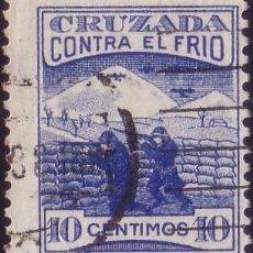 Sellos: ESPAÑA. (CAT.12). 10 CTS. CRUZADA CONTRA EL FRIO. MUY BONITO.. Lote 23553312