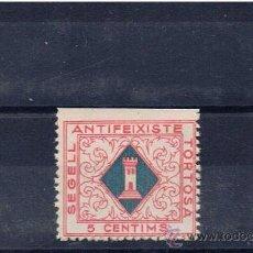 Sellos: SEGELL ANTIFEIXISTE 5 CTS TORTOSA TARRAGONA NUEVO (*). Lote 23917382