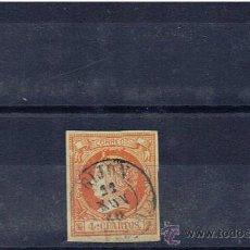 Sellos: MATASELLOS FECHADOR 1861 SOBRE EDIFIL 52 GIJON OVIEDO. Lote 23938417