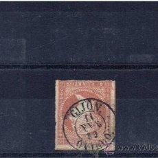 Sellos: MATASELLOS FECHADOR 1859 SOBRE EDIFIL 48 GIJON OVIEDO. Lote 23939152