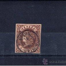 Sellos: MATASELLOS FECHADOR 1863 SOBRE EDIFIL 58 GIJON OVIEDO. Lote 23939185