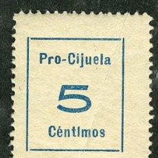 Sellos: SELLO ** PRO CIJUELA (GRANADA) ** 5 CTS (VER DESCRIPCION Y OFERTAS EN SELLOS GUERRA CIVIL). Lote 24101581