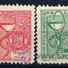 Sellos: ESPAÑA GUERRA CIVIL. ALAVA. FARMACIA. 4 SELLOS NO RESEÑADOS (2 DE BENEFICENCIA). Lote 69796663