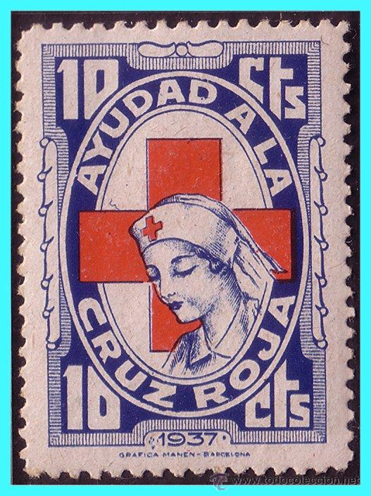 CRUZ ROJA ESPAÑOLA, GUERRA CIVIL, FESOFI Nº 1642 * (Sellos - España - Guerra Civil - Viñetas - Nuevos)