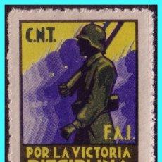 Sellos: CNT - FAI, GUERRA CIVIL, GUILLAMÓN Nº 1889 * *. Lote 24432439