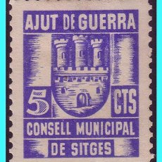 Sellos: BARCELONA, SITGES. GUERRA CIVIL, FESOFI Nº 1 *. Lote 25014399