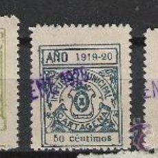 Sellos: 2572-SELLOS LOCALES NUEVOS CARTAGENA MURCIA 1919 NO CATALOGADOS,ALTO VALOR ,FISCALES . Lote 26566411
