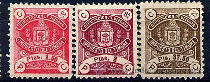 VIZCAYA. FISCALES 17, 19, 20 Y 26 DEL CATÁLOGO EDIFIL (Sellos - España - Guerra Civil - Locales - Nuevos)