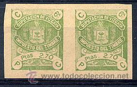 VIZCAYA. FISCALES EDIFIL 29S, 30S Y 31S EN PAREJAS SIN GOMA (Sellos - España - Guerra Civil - Locales - Nuevos)