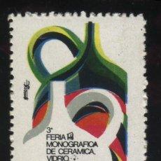 Sellos: S-3046- VALENCIA. 3ª FERIA MONOGRAFICA DE CERAMICA Y VIDRIO. 1967. Lote 25630754