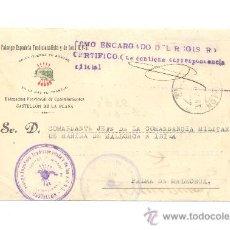 Sellos: CARTA DE FALANGE ESPAÑOLA DE CASTELLÓN DE LA PLANA A PALMA DE MALLORCA DELEGACIÓN DE EXCOMBATIENTES. Lote 25761792