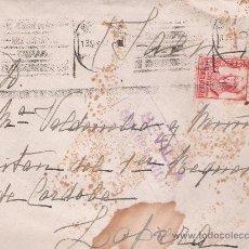 Sellos: CARTA DE SEVILLA A LOPERA. DE 13 DE SEPT-1937. FRANQUEADO CON SELLO 823 Y SELLO LOCAL PRO-SEVILLA.. Lote 133527445