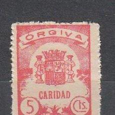 Sellos: ORGIVA. 5 CTS. CARIDAD. Lote 26866363
