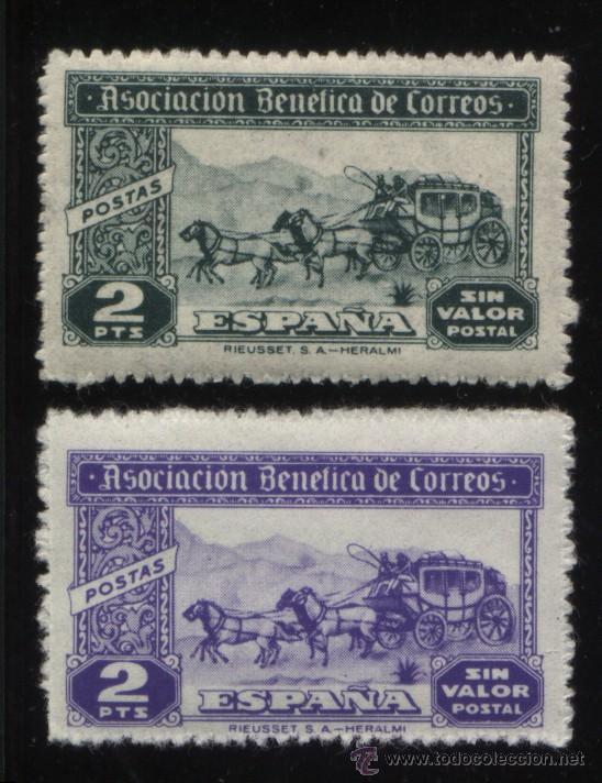 S-3360- ASOCIACION BENEFICA DE CORREOS. POSTAS (Sellos - España - Guerra Civil - Viñetas - Nuevos)