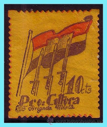 PRO CULTURA, GUERRA CIVIL, GUILLAMÓN Nº 2085 (*) (Sellos - España - Guerra Civil - Viñetas - Nuevos)