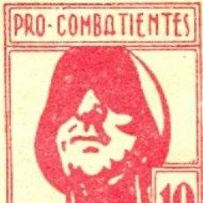 Sellos: LUGO. PRO-COMBATIENTES. 10 CMS. II REPÚBLICA. . Lote 27363000
