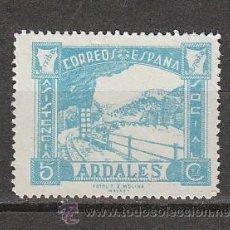 Sellos: ARDALES. ASISTENCIA SOCIAL. 5 CTS. AZUL. Lote 27399793
