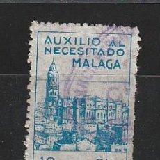 Sellos: AUXILIO AL NECESITADO. 10 CTS. MALAGA. Lote 27411405