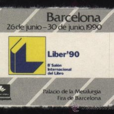 Timbres: S-3403- BARCELONA LIBER 90. 8º SALON INTERNACIONAL DEL LIBRO.. Lote 27436790