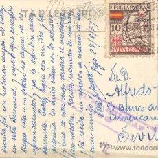 Sellos: ESPAÑA. Nº 833 + SELLO DE TUBERCULOSOS. CON CENSURA MILITAR DE VIGO . Lote 27655473