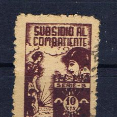 Sellos: SANTANDER SUBSIDIO AL COMBATIENTE 10 CTS. Lote 27979576