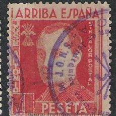 Sellos: 3004-SPAIN CIVIL WAR JOSE ANTONIO FALANGE 1 PESETA MATASELLOS SECCION FEMENINA. Lote 28403180