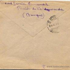 Sellos: ESPAÑA. GUERRA CIVIL. PRISIÓN VALDENOCEDA (BURGOS) A MADRID. DIC. 39. CENSURA.. Lote 28415527