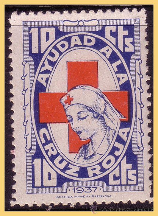 GUERRA CIVIL. CRUZ ROJA ESPAÑOLA, GUILLAMON Nº 1642 * (Sellos - España - Guerra Civil - Viñetas - Nuevos)