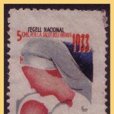 Sellos: GUERRA CIVIL. SEGELL PRO INFANCIA, GUILLAMON Nº 2282 (O). Lote 28455674