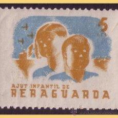 Sellos: GUERRA CIVIL. AJUT INFANTIL DE RERAGUARDA, GUILLAMON Nº 2290 * *. Lote 28455740
