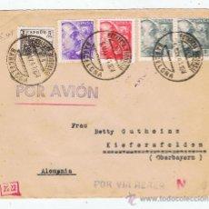 Sellos: CIRCULADO 1941 DE BARCELONA A OBERBAYERN CON CENSURA GUVERNATIVA I MARCAS DE CORREO NAZIS. Lote 28487126