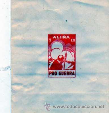 ALIÑA. PRO GUERRA. 5 CTS. HOJITA. (Sellos - España - Guerra Civil - Viñetas - Nuevos)