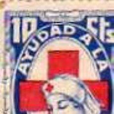 Sellos: AYUDA A LA CRUZ ROJA. 10 CTS. 1937. GUERRA CIVIL.. Lote 28492071