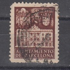 Sellos: ,,BARCELONA 33NA SIN LETRA DE SERIE USADA, FACHADA DEL AYUNTAMIENTO, . Lote 28498909