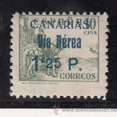 Sellos: ,,CANARIAS 46HAA SIN CHARNELA, VARIEDAD -25- ALINEADO CON LA PARTE SUPERIOR DE LA -P- . Lote 28512507