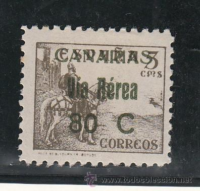 ,,CANARIAS 45 SIN CHARNELA, SOBRECARGADO (Sellos - España - Guerra Civil - Beneficencia)