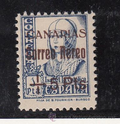 ,,CANARIAS 43 SIN CHARNELA, SOBRECARGADO, (Sellos - España - Guerra Civil - Beneficencia)