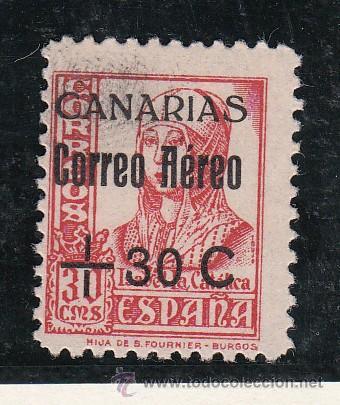,,CANARIAS 40 USADA, SOBRECARGADO, (Sellos - España - Guerra Civil - Beneficencia)