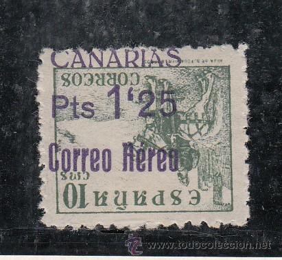 ,,CANARIAS 39HI CON CHARNELA, SOBRECARGADO, VARIEDAD SOBRECARGA INVERTIDA Y SIN -.- EN PTS MUY RARO (Sellos - España - Guerra Civil - Beneficencia)
