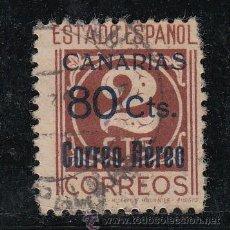Sellos: ,,CANARIAS 38 CON PIE DE IMPRENTA USADA, SOBRECARGADO, . Lote 28558206