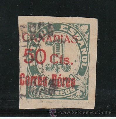,,CANARIAS 37 USADA, SOBRECARGADO, (Sellos - España - Guerra Civil - Beneficencia)
