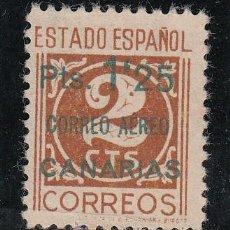 Sellos: ,,CANARIAS 36 CASTAÑO CLARO SIN GOMA, SOBRECARGADO, CATALOGO AURIOLES 47B . Lote 28558380