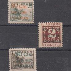 Sellos: ,,CANARIAS 34/6 SIN GOMA, SOBRECARGADO, . Lote 28570155
